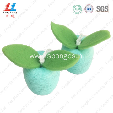 Crafted soft mesh exfoliating scrubber shower sponge